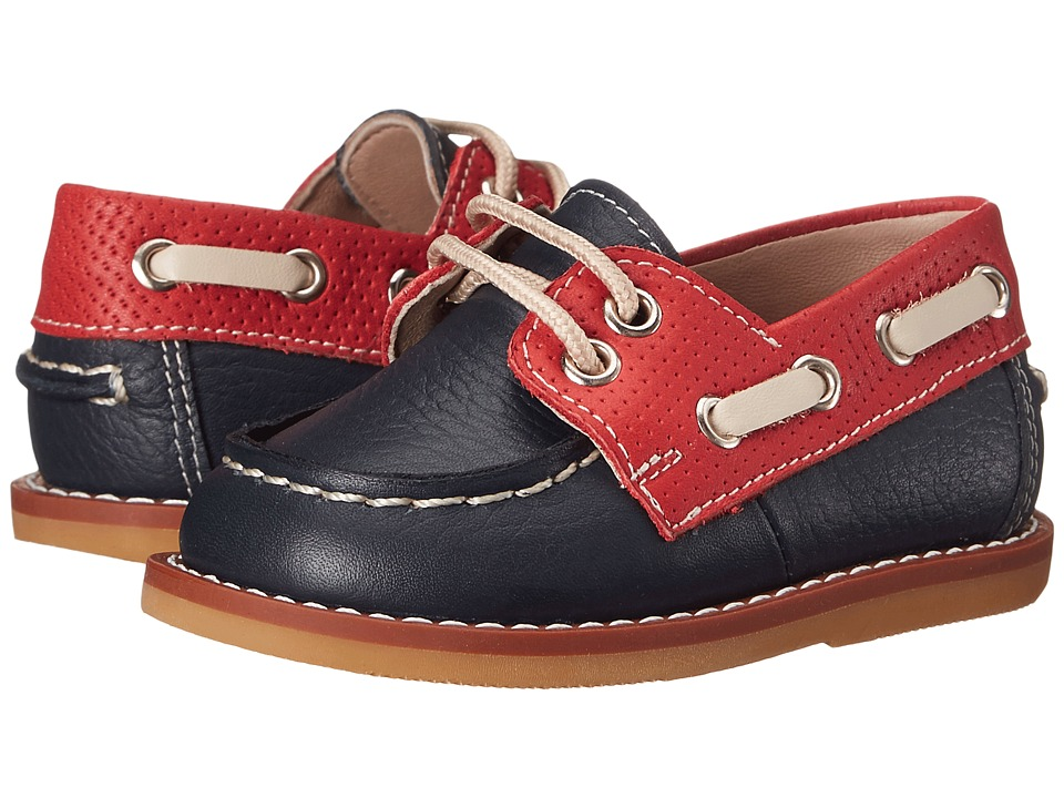 Elephantito - Boat Shoes (Infant/Toddler) (Leather Blue) Boy's Shoes