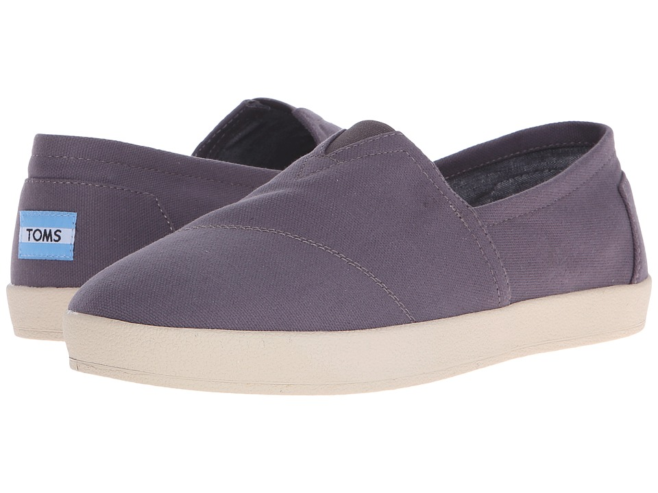 TOMS - Avalon Slip-On (Ash Canvas) Men's Slip on Shoes