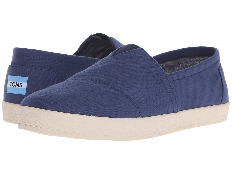 TOMS - Avalon Slip-On (Navy Canvas) Men's Slip on Shoes