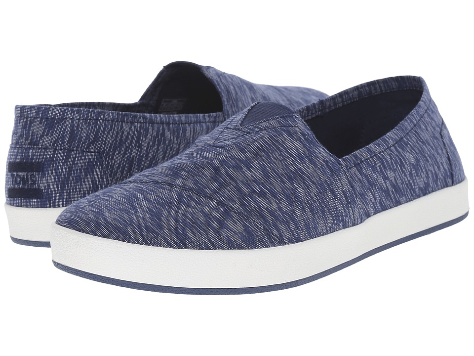 TOMS - Avalon Slip-On (Navy Textured Textile) Men's Slip on Shoes