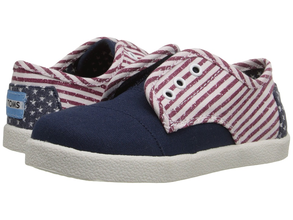 TOMS Kids - Paseo Sneaker (Infant/Toddler/Little Kid) (Americana Canvas Flag) Kids Shoes