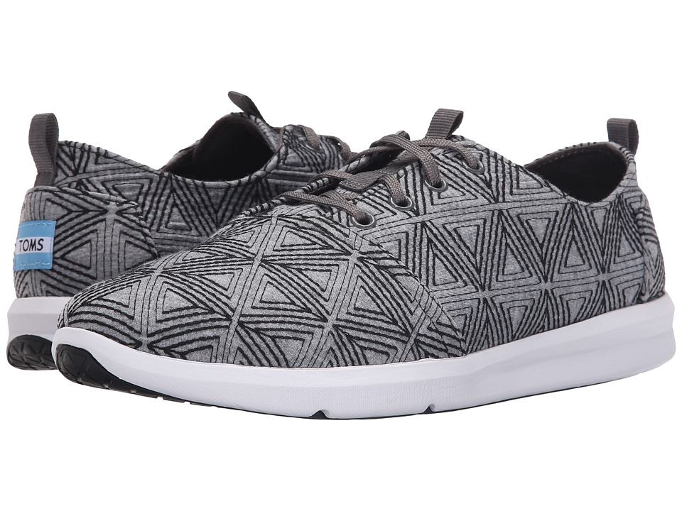 TOMS Del Rey (Grey Angular Embroidery) Men