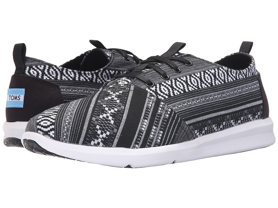 TOMS Del Rey (Black/White Linear Cultural Woven) Men