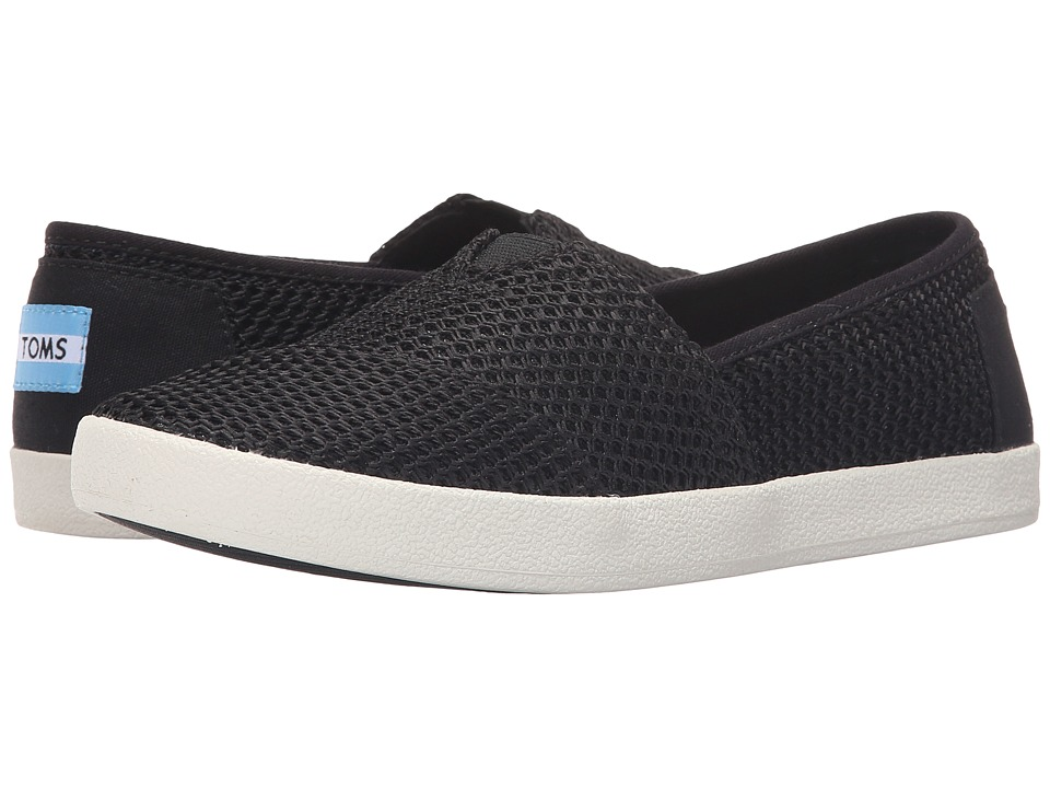 TOMS - Avalon Slip-On (Black Mesh) Women's Slip on Shoes