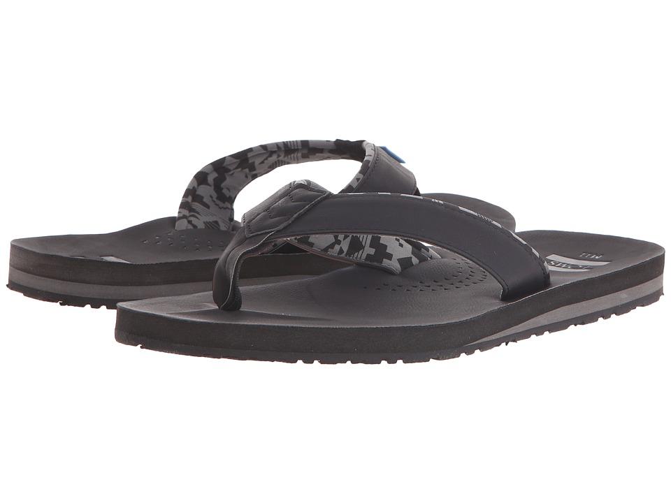 TOMS - Carilo Flip Flop (Black) Men's Sandals