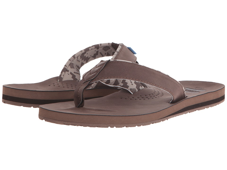 TOMS - Carilo Flip Flop (Brown) Men's Sandals