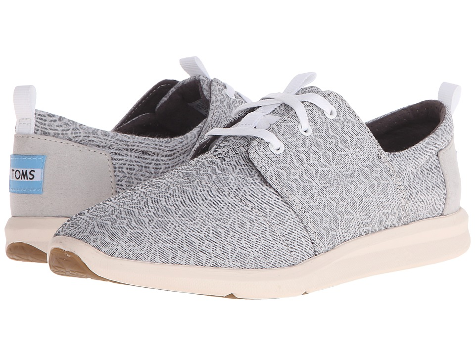 TOMS - Del Rey Sneaker (Grey Tribal) Women's Lace up casual Shoes