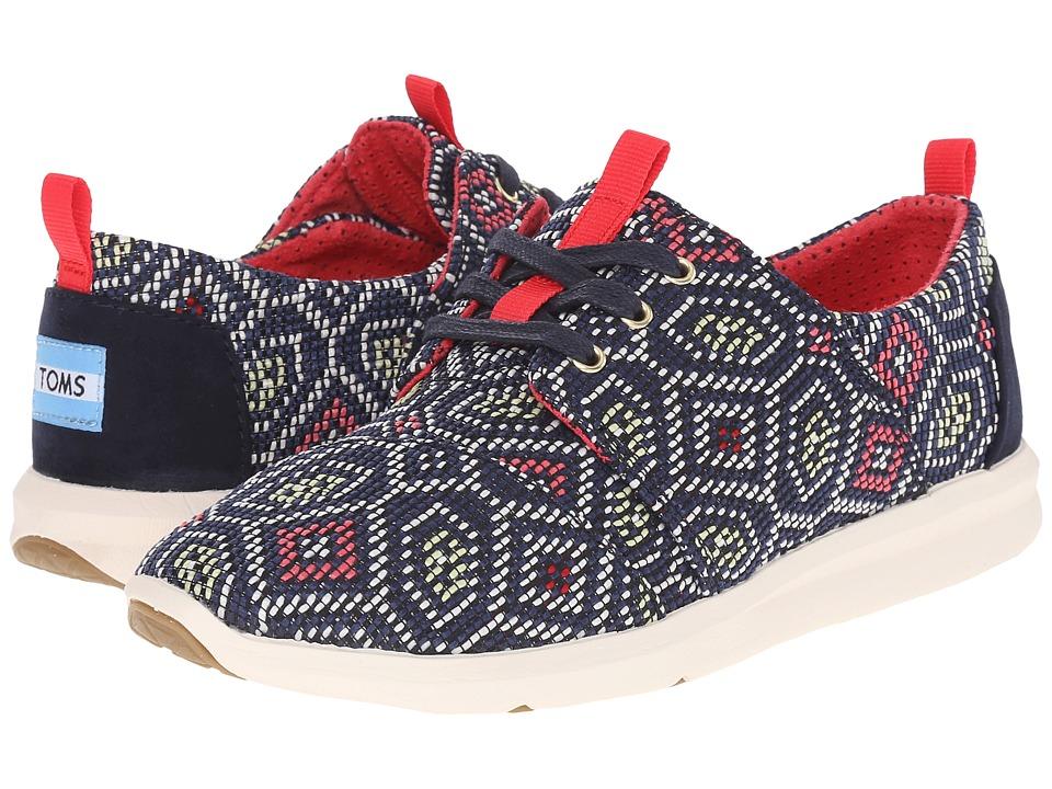 TOMS Del Rey Sneaker (Navy Multi Woven) Women