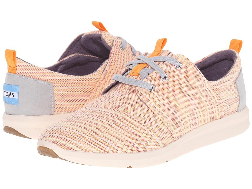 TOMS - Del Rey Sneaker (Orange Multi Stripe) Women's Lace up casual Shoes