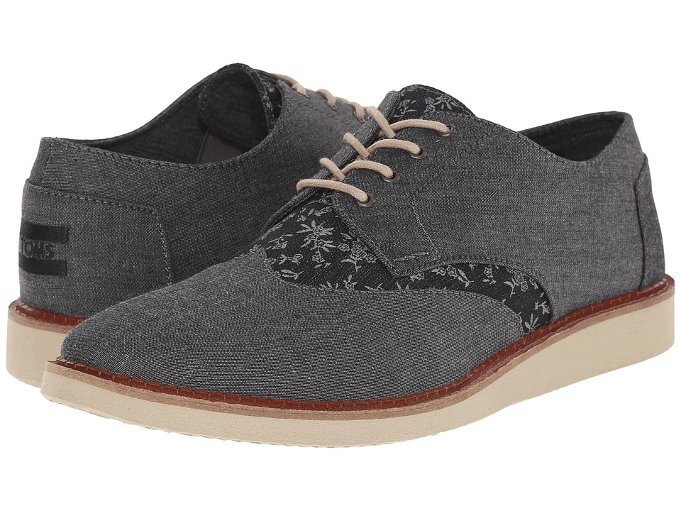 TOMS - Brogue (Black Chambray/Floral) Men's Lace up casual Shoes