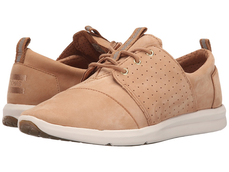 TOMS Del Rey Sneaker Sandstorm Nubuck Womens Lace up casual Shoes