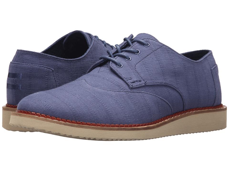 TOMS Brogue (Blue Indigo Linear Textile) Men