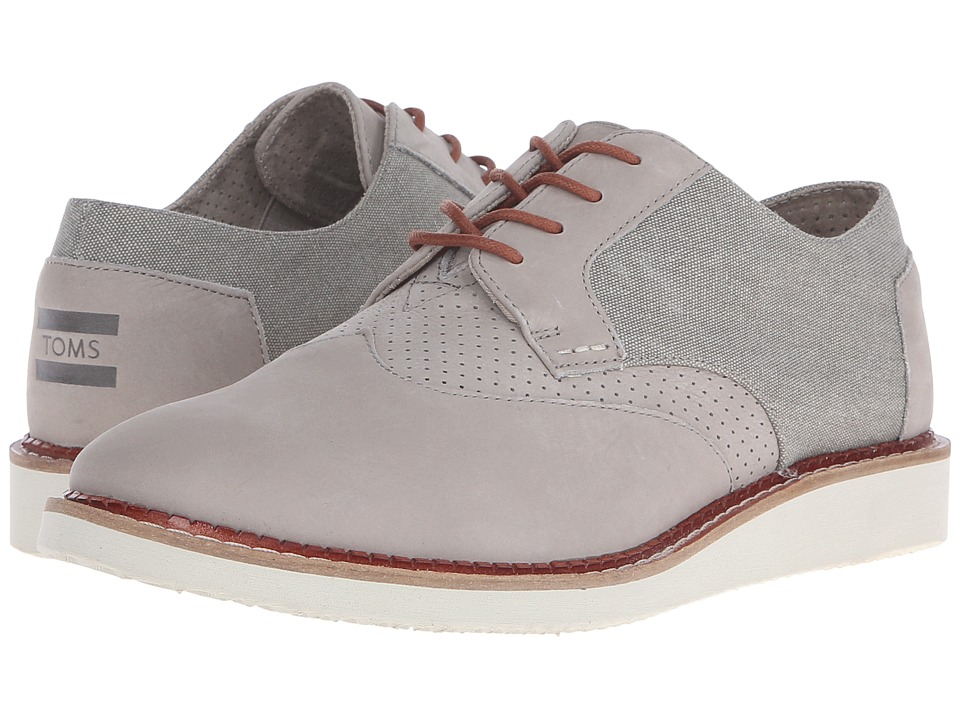 TOMS Brogue (Taupe Leather/Washed Canvas) Men
