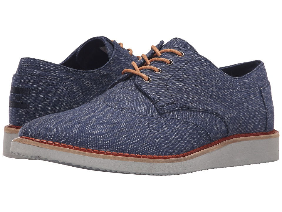 TOMS - Brogue (Navy Textured Textile) Men's Lace up casual Shoes
