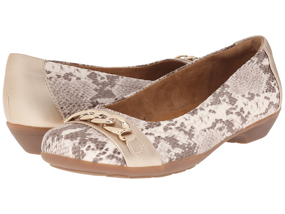 Comfortiva - Pelham - Soft Spots (Sand/Soft Silver Viper Desert Flex/ Velvet Sheep Nappa) Women's Slip on Shoes