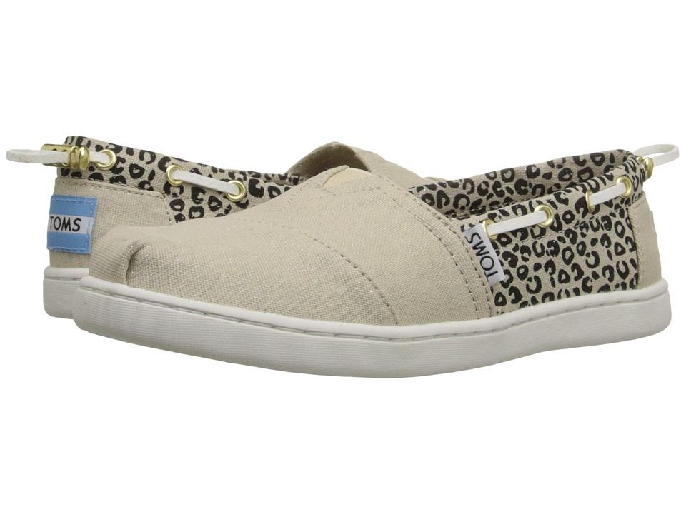 TOMS Kids - Bimini Espadrille (Little Kid/Big Kid) (Cheetah Metallic Linen) Kids Shoes