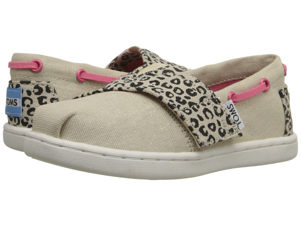 TOMS Kids - Bimini Espadrille (Infant/Toddler/Little Kid) (Cheetah Metallic Linen) Kids Shoes