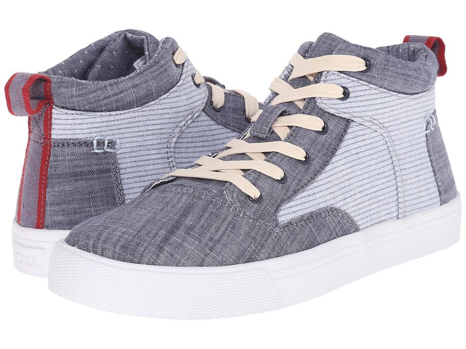 TOMS Camila High Sneaker (Chambray Stripe) Women