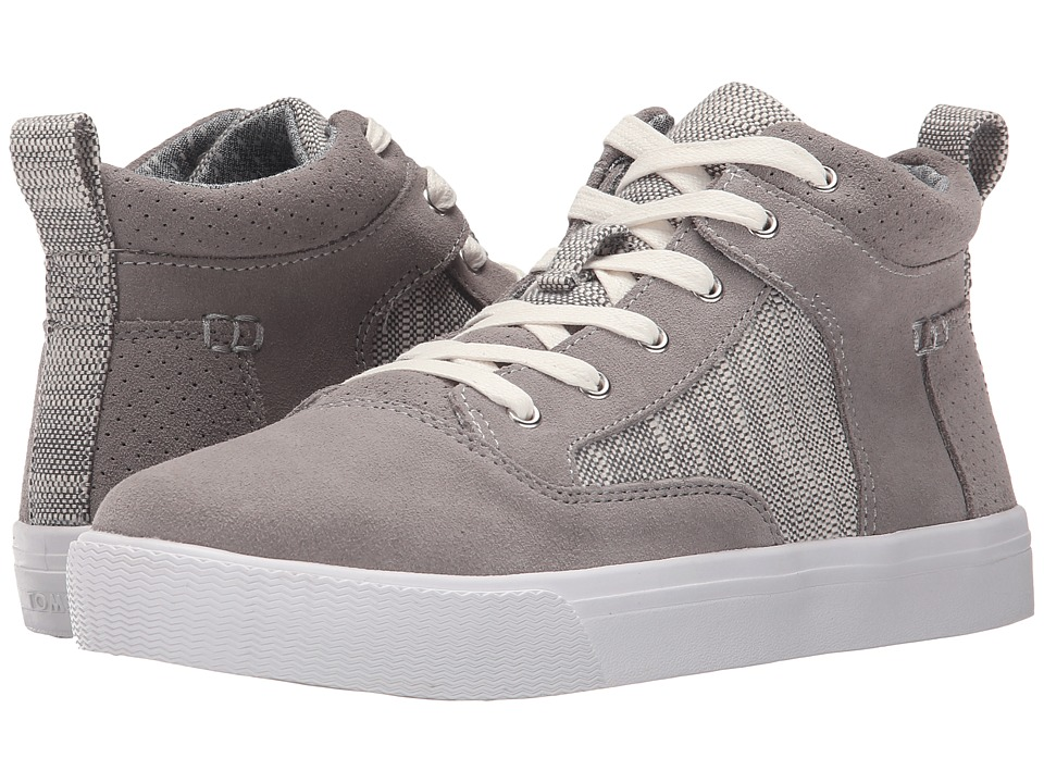TOMS - Camila High Sneaker (Grey Suede Textured Woven) Women's Lace up casual Shoes