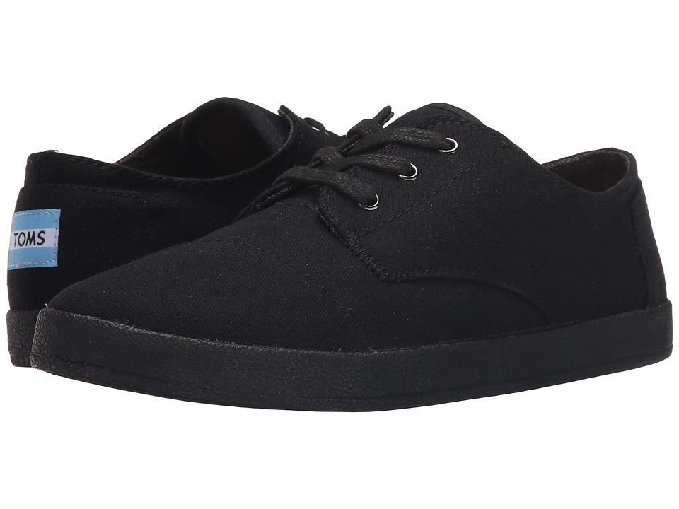 TOMS Paseo Sneaker (Black/Black Canvas) Women