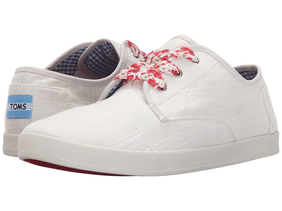 TOMS - Paseo Sneaker (White Linen) Women's Lace up casual Shoes