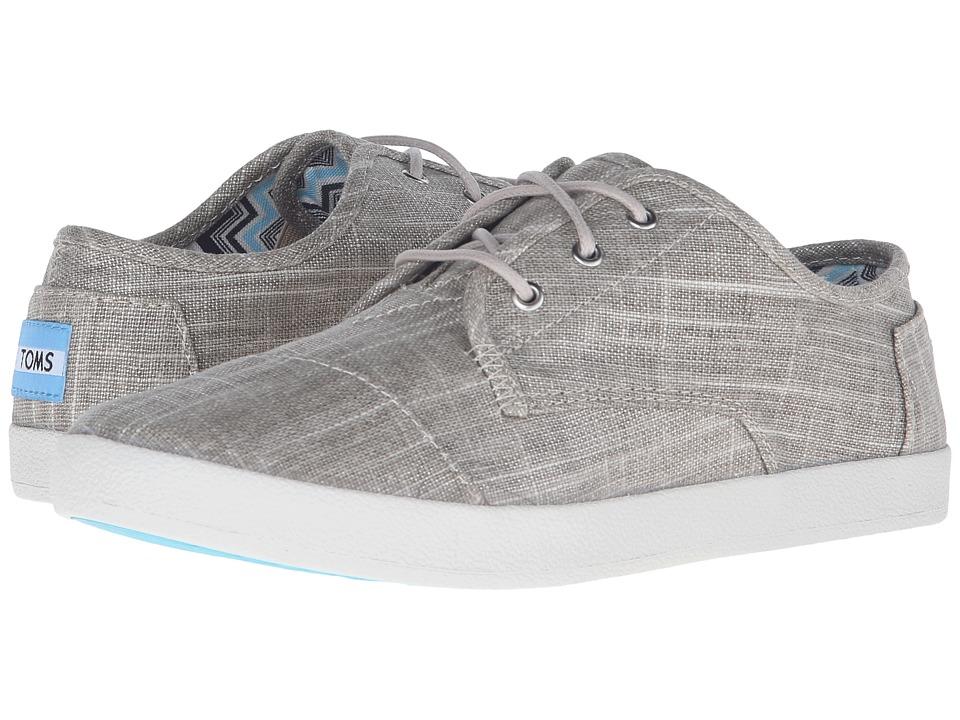 TOMS - Paseo Sneaker (Tan Metallic Linen) Women's Lace up casual Shoes