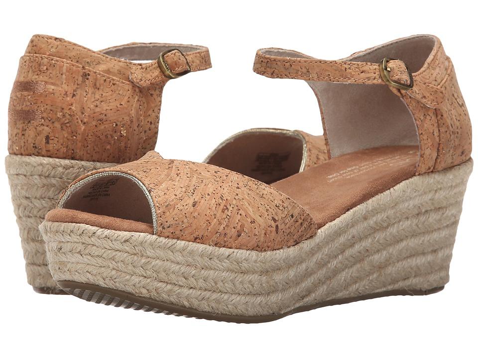 TOMS - Platform Wedge (Cork Glitz/Rope) Women's Wedge Shoes