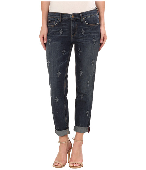 Level 99 - Sienna Tomboy w/ Embroidery in Derby (Derby) Women's Jeans