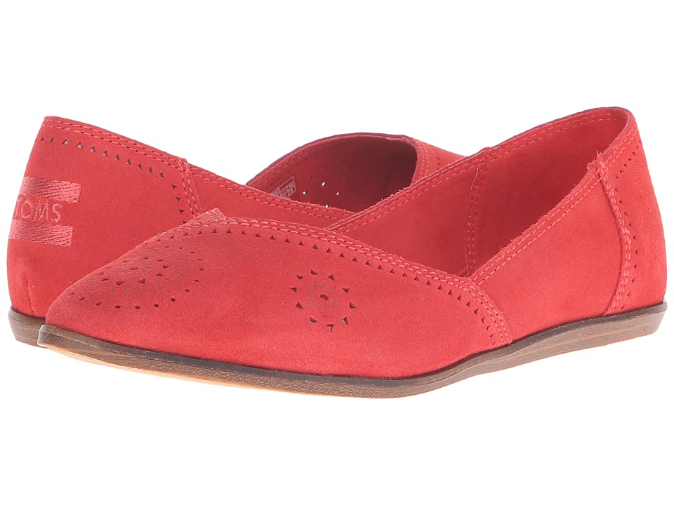TOMS Jutti Flat (Cayenne Suede Perforated) Women