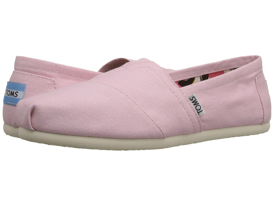 TOMS - Seasonal Classics (Pink Icing Canvas) Women's Slip on Shoes