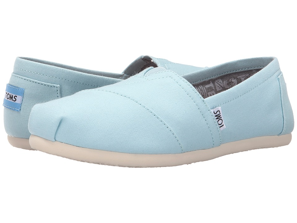 TOMS - Seasonal Classics (Canal Blue Canvas) Women's Slip on Shoes