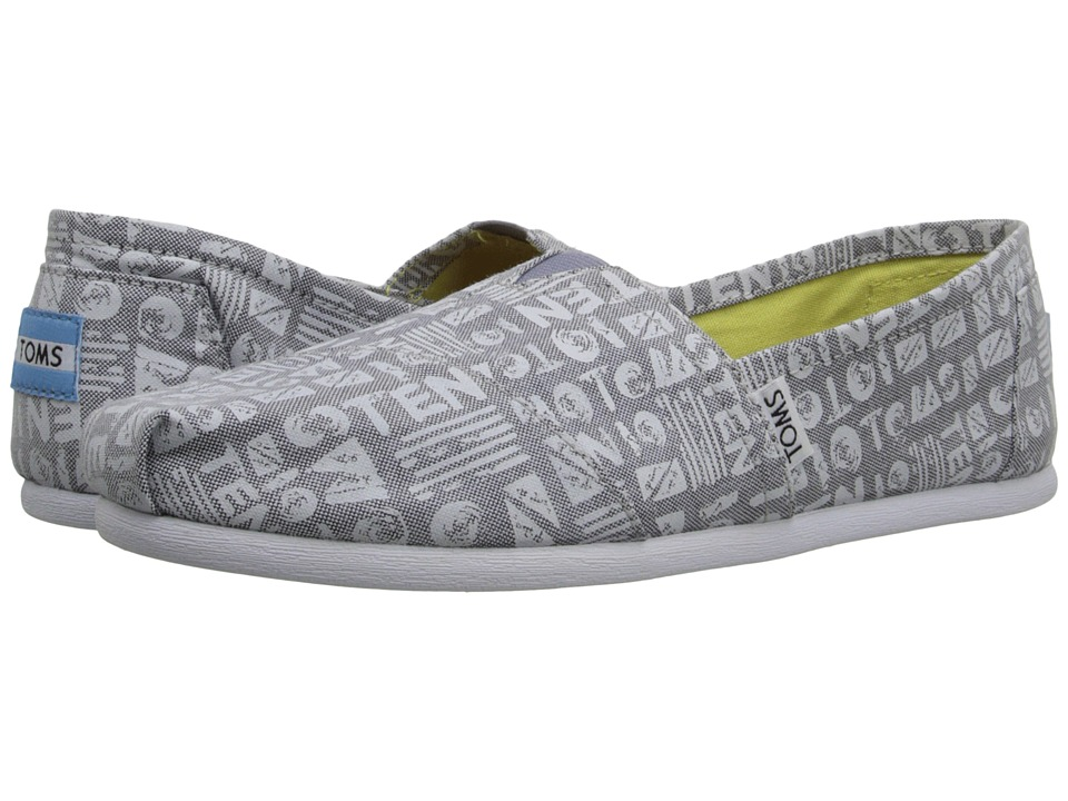 TOMS - Seasonal Classics (Grey Chambray/Ten Year Anniversary) Women's Slip on Shoes