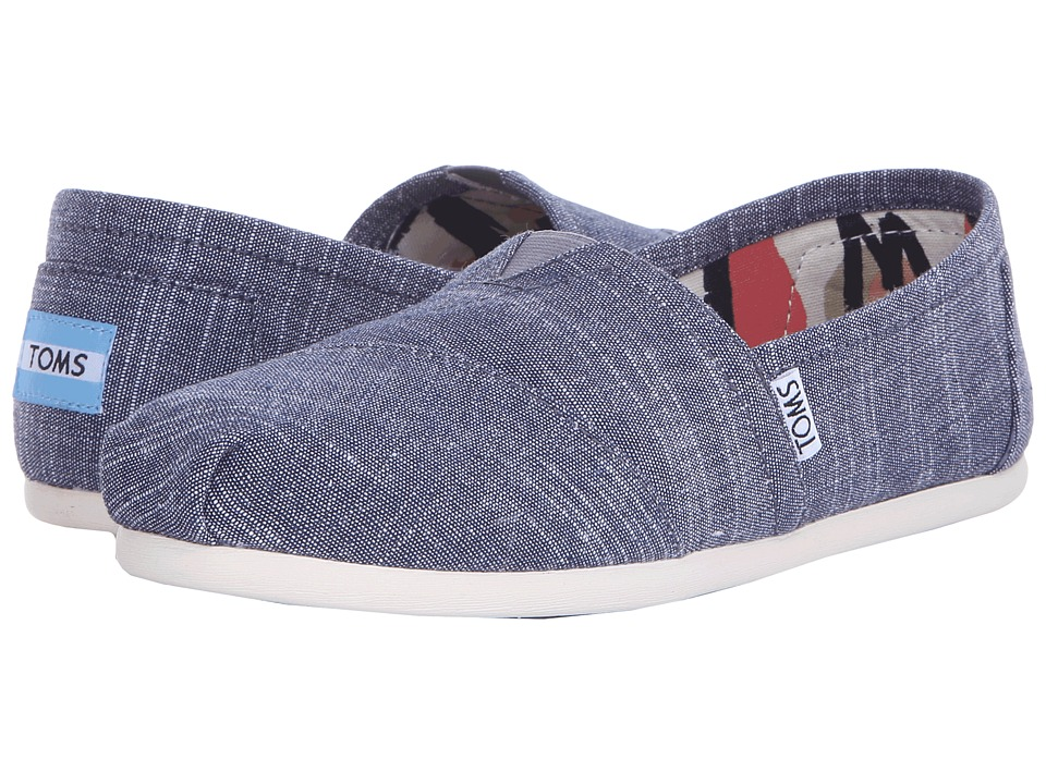 TOMS - Seasonal Classics (Blue Chambray 2) Women's Slip on Shoes