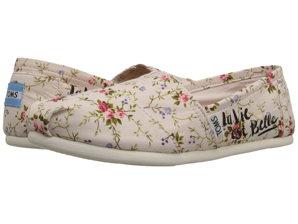 TOMS - Seasonal Classics (Blush Textile Floral) Women's Slip on Shoes