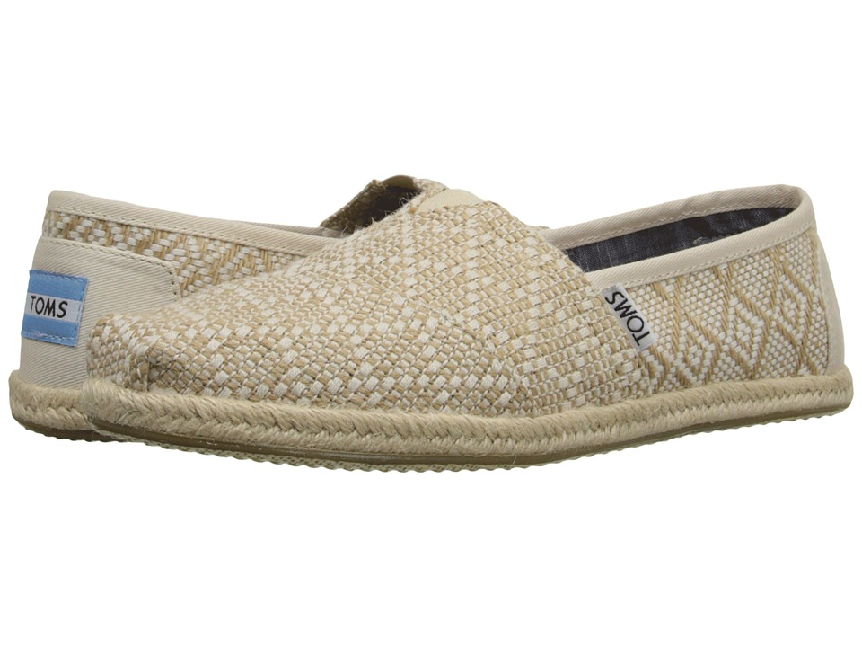 TOMS - Seasonal Classics (Natural Woven Rope Sole) Women's Slip on Shoes