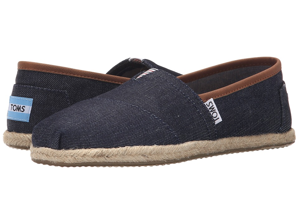 TOMS - Seasonal Classics (Dark Denim/Rope) Women's Slip on Shoes