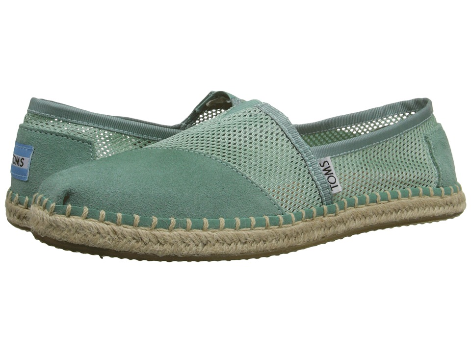 TOMS - Mesh Classics (Green Mesh) Women's Slip on Shoes