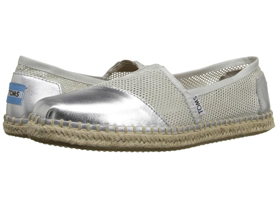 TOMS - Mesh Classics (Silver Mesh) Women's Slip on Shoes
