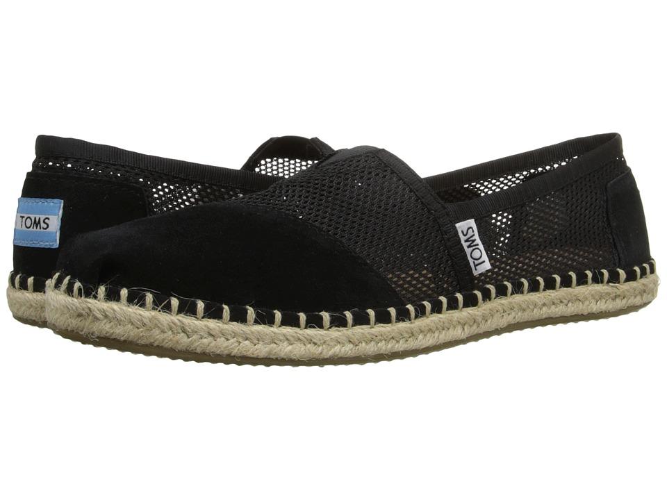 TOMS - Mesh Classics (Black Mesh) Women's Slip on Shoes