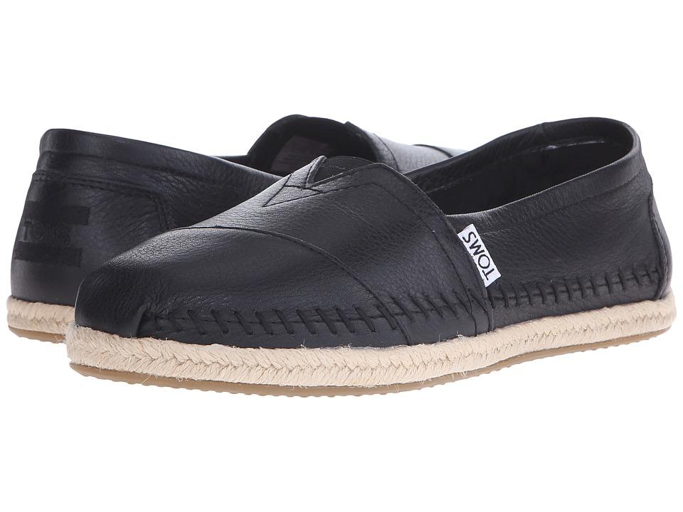 TOMS Leather Classics (Black Full Grain Leather 2) Women