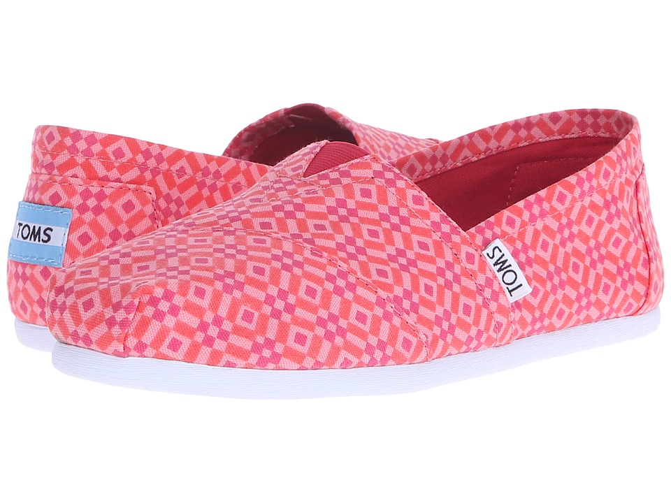 TOMS - Seasonal Classics (Cayenne Canvas Tile) Women's Slip on Shoes