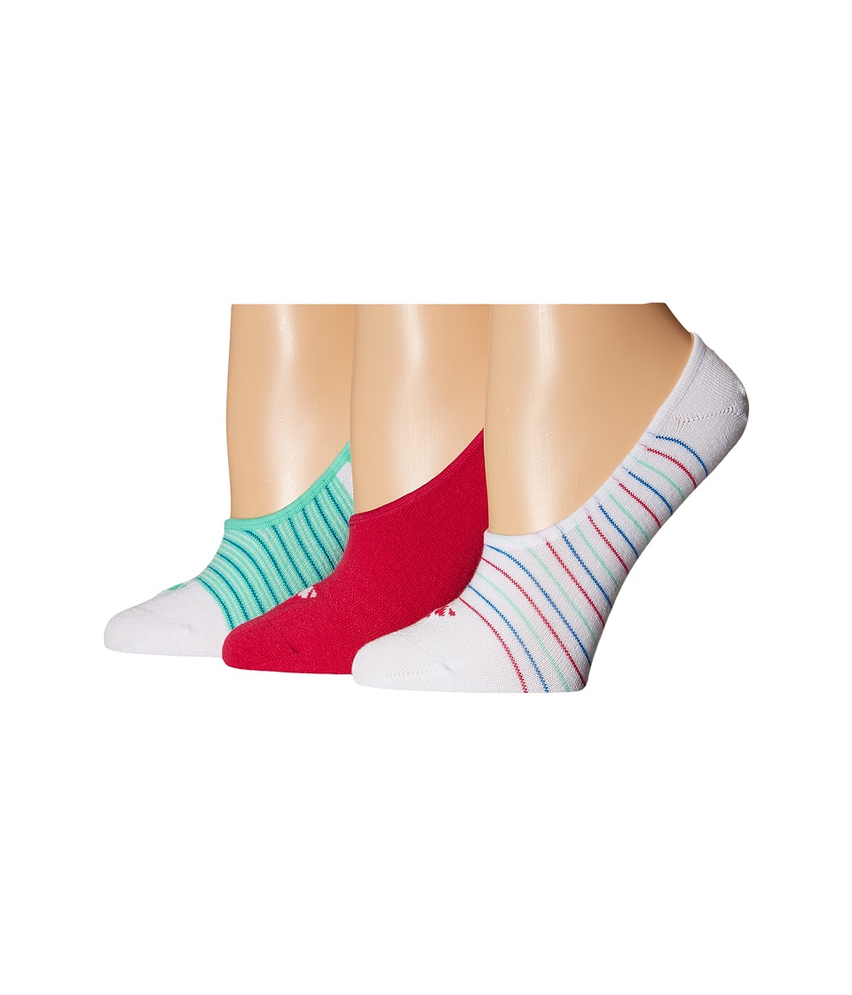 adidas - Superlight 3 Pair Super No Show (White/Bold Pink/Shock Blue/Green Glow) Women's No Show Socks Shoes
