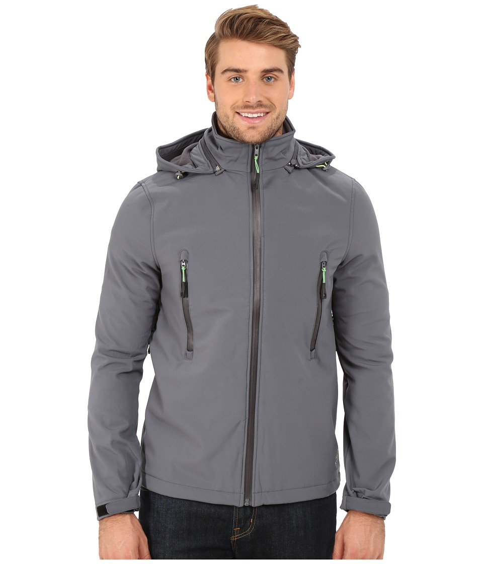 Khombu - Ventilation Softshell Coat (Castlerock/Herbal Green) Men