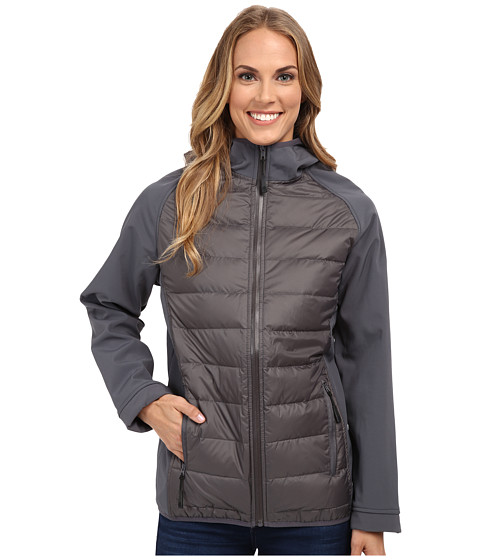 Khombu - Mix Media Coat w/ Pop Zipper (Castlerock) Women's Coat