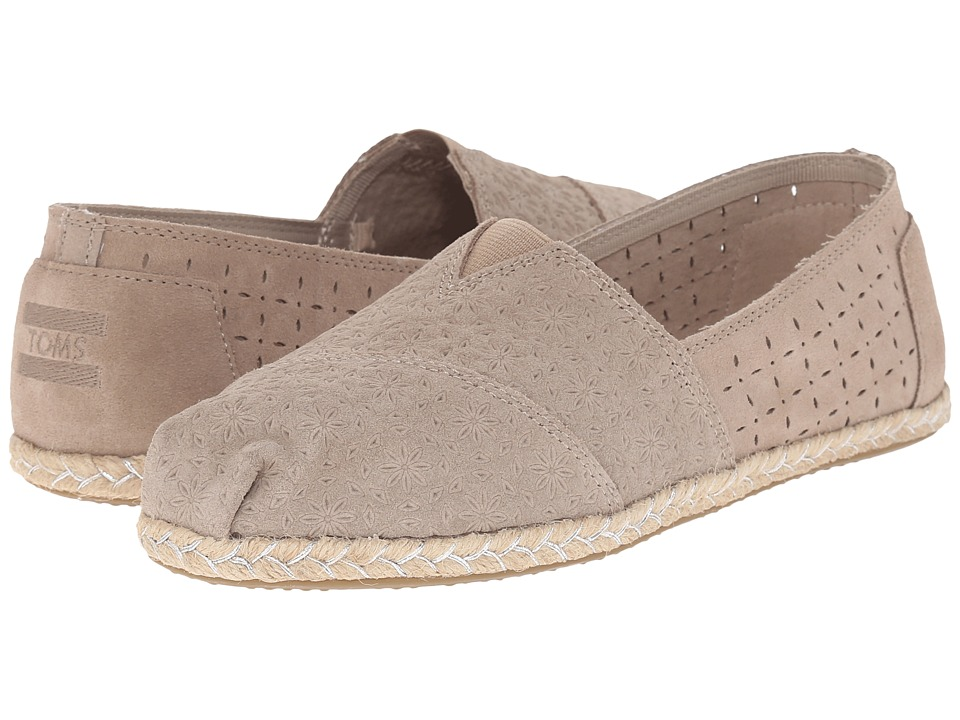 TOMS - Seasonal Classics (Oxford Tan Suede Moroccan/Rope) Women's Slip on Shoes