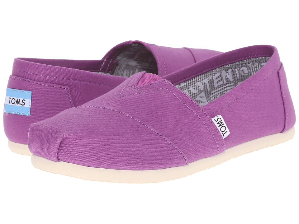 TOMS - Seasonal Classics (Dahlia Purple Canvas) Women's Slip on Shoes