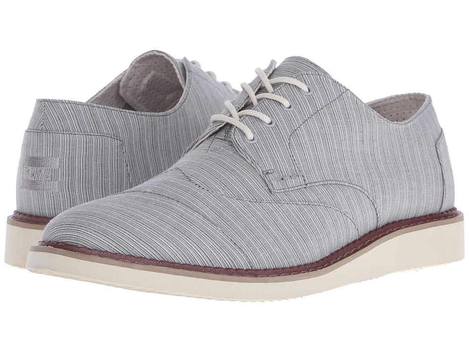TOMS - Hyland Lace-Up (Vapor Grey Stripe) Men's Lace up casual Shoes
