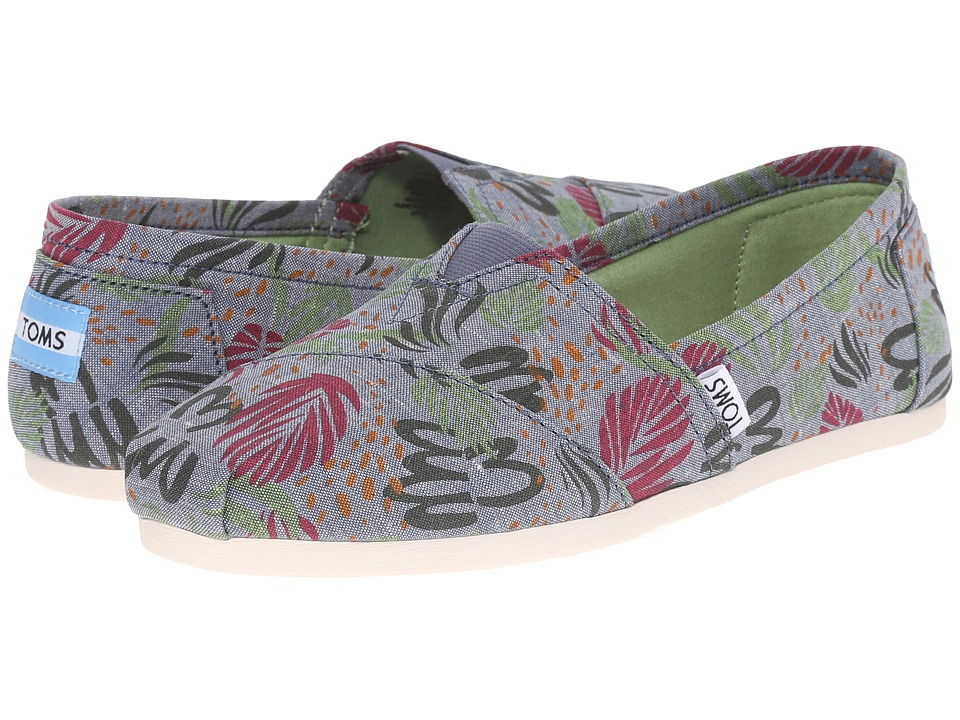 TOMS - Seasonal Classics (Multi Chambray Abstract) Women's Slip on Shoes