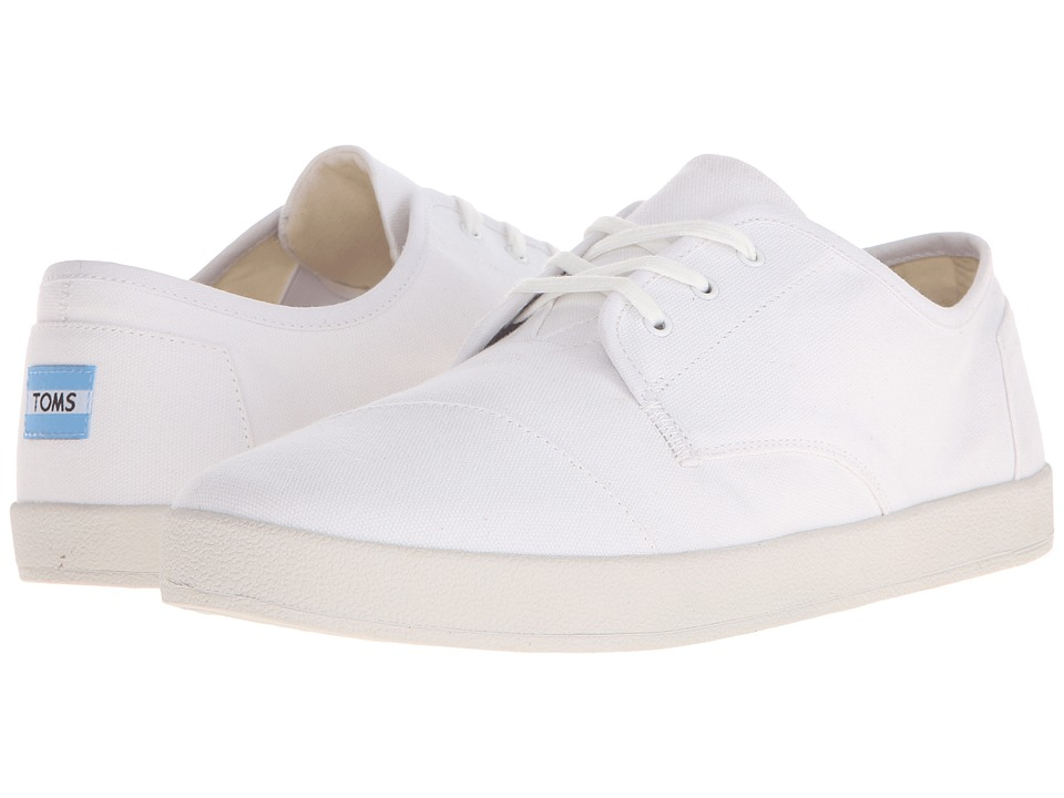 TOMS - Paseo (White Canvas) Men's Lace up casual Shoes