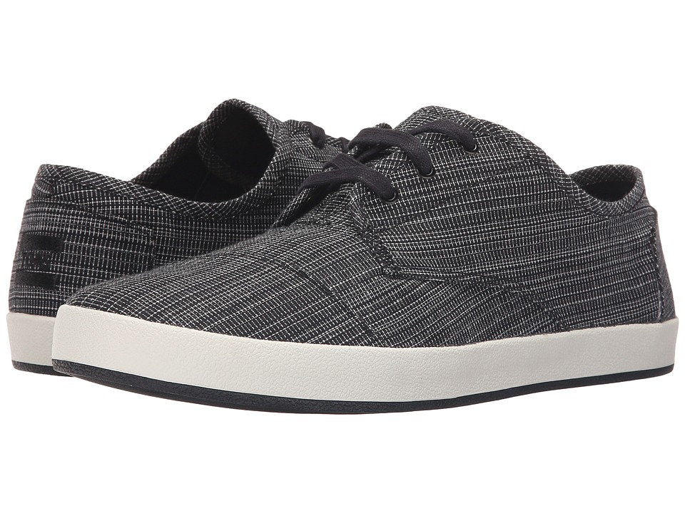 TOMS - Paseo (Black Distressed Textile) Men's Lace up casual Shoes